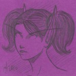Moody DK Post-It portrait by Loreli at AoD Studios